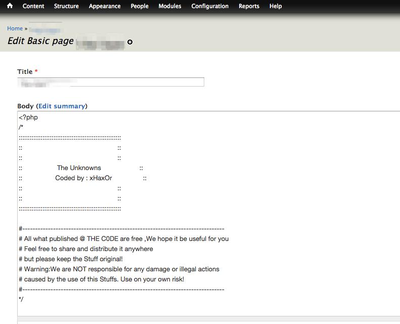 PHP backdoor shells in Drupal: not always file-based   mig5 system