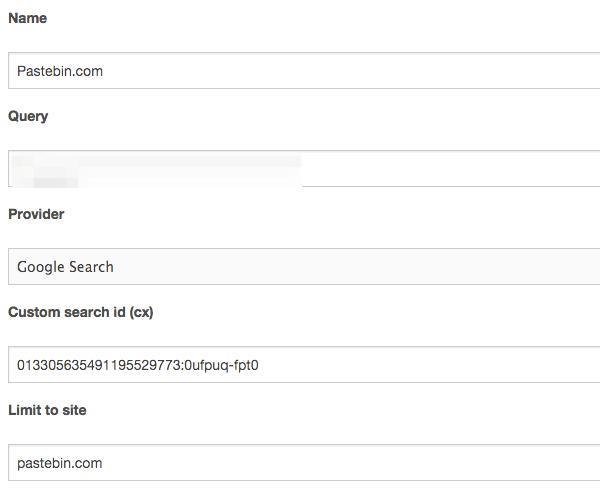 Monitoring pastebin com with Scumblr | mig5 system